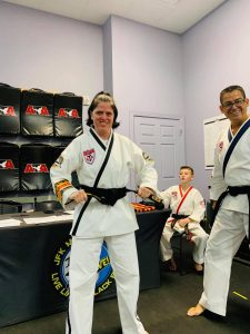 New 5th Degree Reina Dicks and 6th Degree Andrew Beaujeaux.